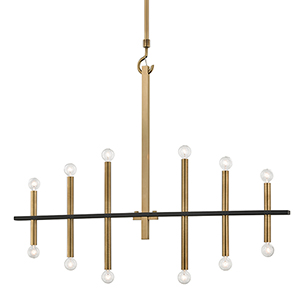 Colette Aged Brass 12-Light Chandelier