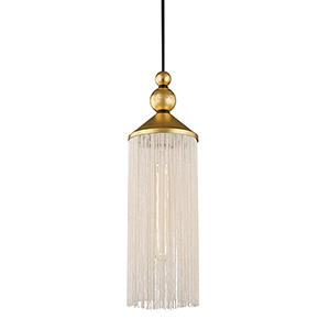 Scarlett Gold Leaf 5-Inch One-Light Pendant