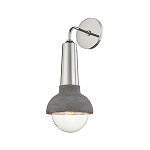 Macy Polished Nickel One-Light Wall Sconce