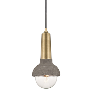 Macy Aged Brass One-Light Pendant