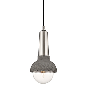 Macy Polished Nickel One-Light Pendant