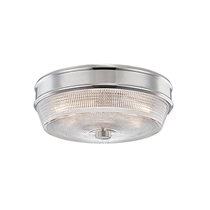 Lacey Polished Nickel Two-Light Flush Mount
