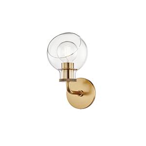 Noelle Aged Brass One-Light Bath Bracket