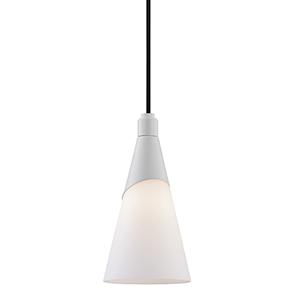 Parker Glossy White One-Light Pendant