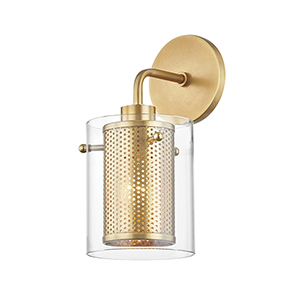Elanor Aged Brass One-Light Wall Sconce