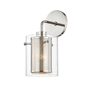 Elanor Polished Nickel One-Light Wall Sconce