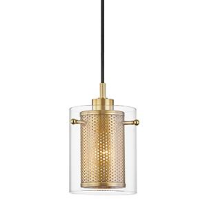 Elanor Aged Brass One-Light Pendant