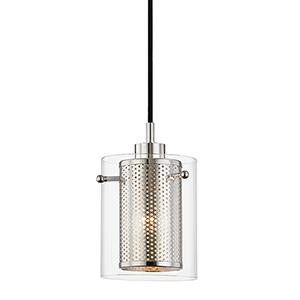 Elanor Polished Nickel One-Light Pendant