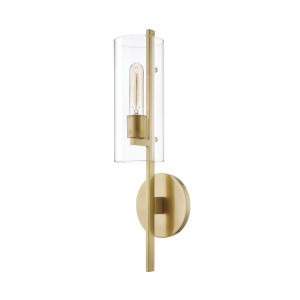 Ariel Aged Brass One-Light Wall Sconce