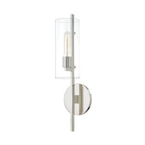 Ariel Polished Nickel One-Light Wall Sconce