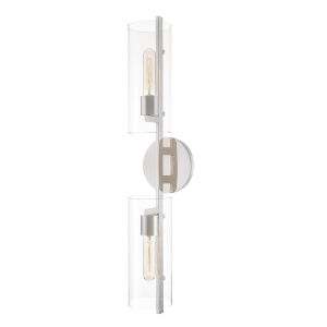 Ariel Polished Nickel Two-Light Wall Sconce