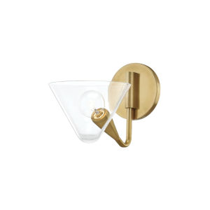 Isabella Aged Brass One-Light Wall Sconce
