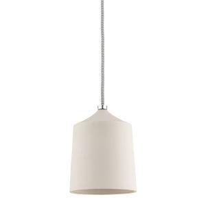 Megan Polished Nickel and Matte White One-Light Mini Pendant