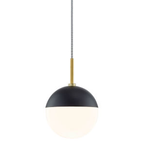 Renee Aged Brass and Black One-Light Pendant