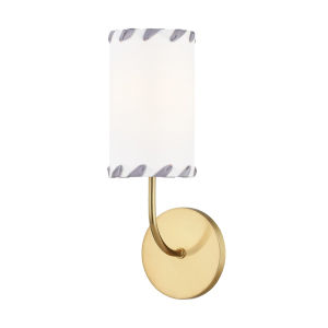 Hannah Aged Brass One-Light Wall Sconce