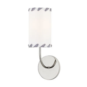 Hannah Polished Nickel Five-Inch One-Light Wall Sconce