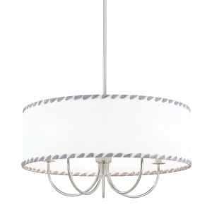 Hannah Polished Nickel Five-Light Chandelier