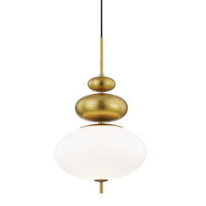 Elsie Aged Brass One-Light Pendant