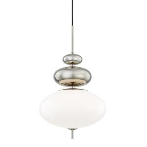 Elsie Polished Nickel One-Light Pendant