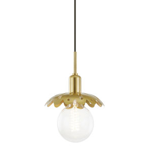 Alyssa Aged Brass One-Light Mini Pendant