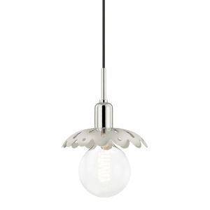Alyssa Polished Nickel One-Light Mini Pendant