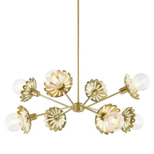 Alyssa Aged Brass Eight-Light Chandelier