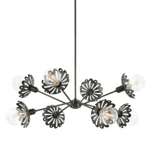 Alyssa Old Bronze Eight-Light Chandelier
