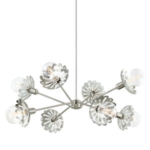 Alyssa Polished Nickel Eight-Light Chandelier
