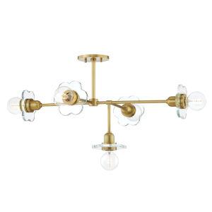 Alexa Aged Brass Five-Light Chandelier