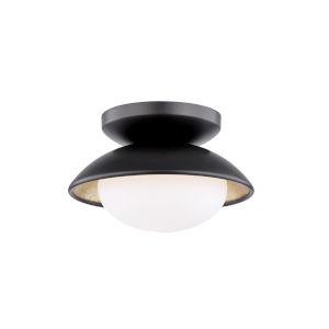 Cadence Black and Gold LED Semi-Flush Mount