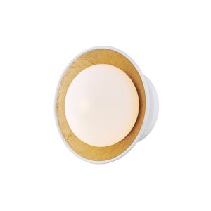 Cadence White and Gold LED Semi-Flush Mount