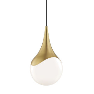 Ariana Aged Brass One-Light Pendant