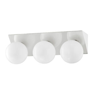 Aspyn Polished Nickel Three-Light Bath Vanity