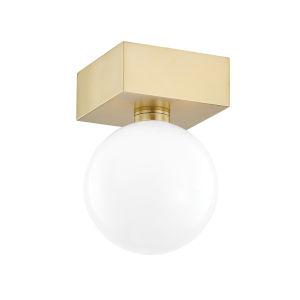 Aspyn Antique Brass One-Light Semi-Flush Mount