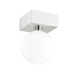 Aspyn Polished Nickel One-Light Semi-Flush Mount
