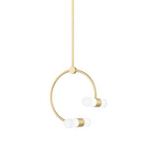 Rae Antique Brass 13-Inch Four-Light Pendant