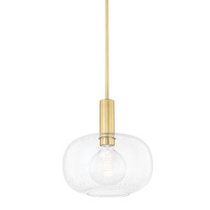 Harlow Aged Brass One-Light Pendant