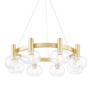 Harlow Antique Brass Eight-Light Chandelier