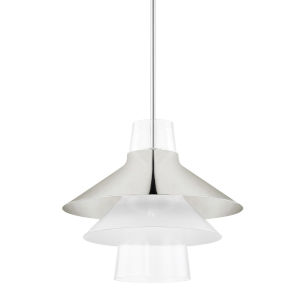 Jessy Polished Nickel 16-Inch One-Light Pendant