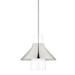 Jessy Polished Nickel 12-Inch One-Light Pendant