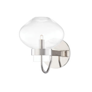 Korey Polished Nickel One-Light Wall Sconce