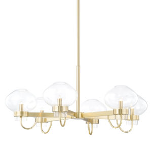 Korey Aged Brass Six-Light Chandelier