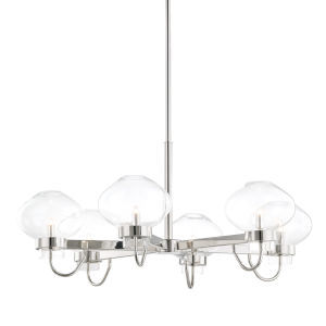 Korey Polished Nickel Six-Light Chandelier
