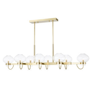 Korey Aged Brass Eight-Light Pendant