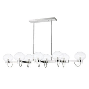Korey Polished Nickel Eight-Light Pendant
