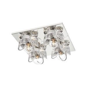 Shea Polished Nickel Four-Light Flush Mount