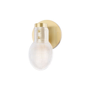 Jenna Aged Brass One-Light Bathroom Vanity Light