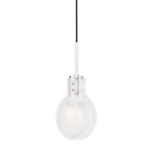 Jenna Polished Nickel One-Light Globe Mini Pendant