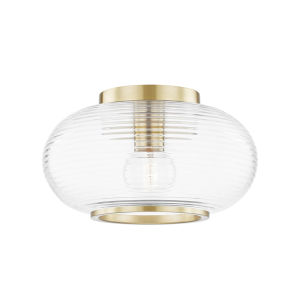 Maggie Aged Brass One-Light Flush Mount
