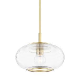 Maggie Aged Brass One-Light Globe Pendant